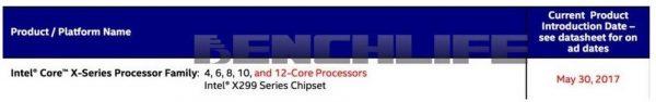 Core-X Series 12-core May 30