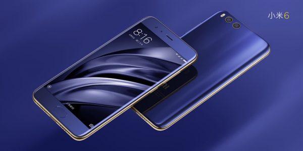 Xiaomi Mi6 blue design