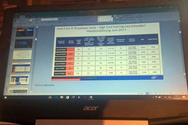 Intel Core X-Prozessor Serie