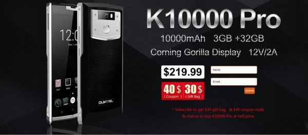 Oukitel K10000 Pro subscription