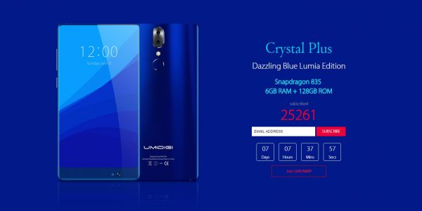 UMIDIGI CRYSTAL Plus Lumia
