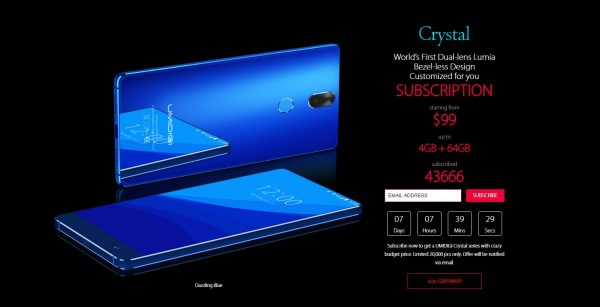 UMIDIGI CRYSTAL blue offer