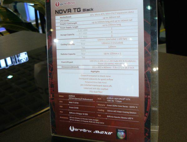 BitFenix Nova TG Black Daten