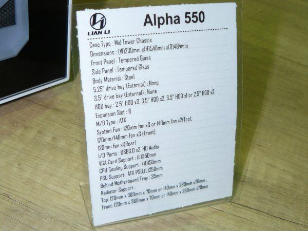 Lian Li Alpha 550 Daten