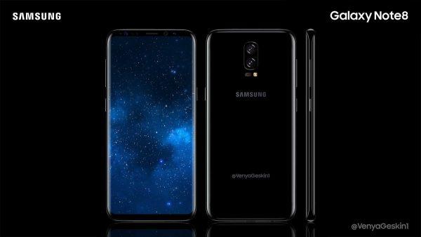 Samsung Galaxy Note 8 Konzeptidee