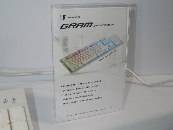Tesoro GRAM Spectrum White Daten