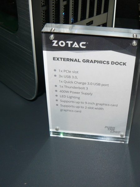 Zotac External Graphics Dock Daten