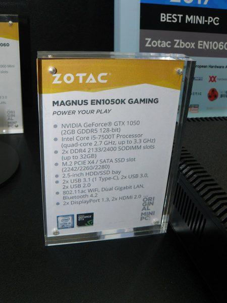 Zotac Magnus EN1050K Gaming Daten