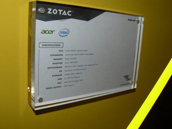 Zotac PI225 Daten