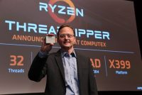 AMD Jim Anderson shows off Ryzen Threadripper