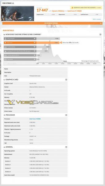 AMD Radeon RX Vega 3DMark FireStrike1