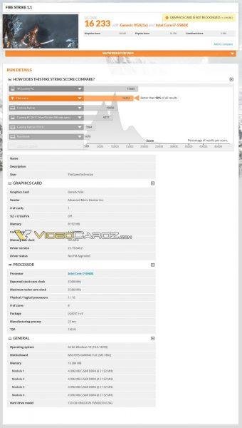 AMD Radeon RX Vega 3DMark FireStrike3