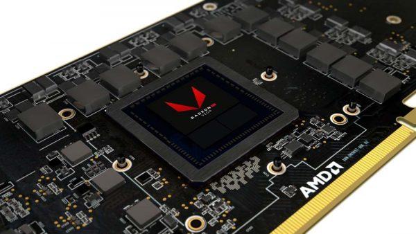AMD Vega 10 Chip schräg