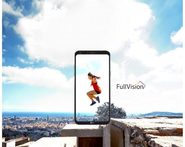 LG Q6 Fullvision display