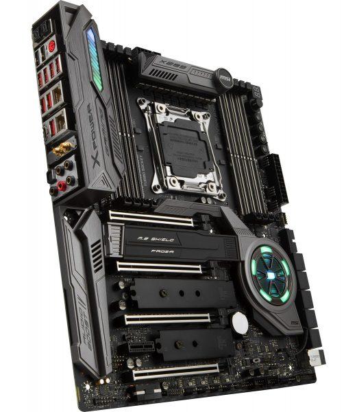 MSI X299 Xpower Gaming AC hinten