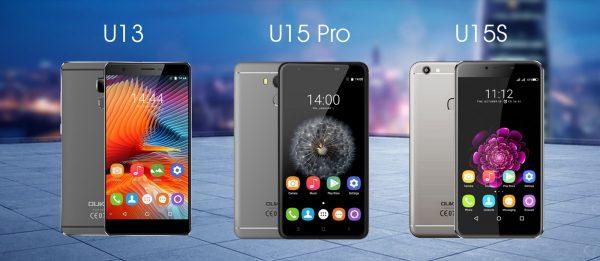 Oukitel U13 and U15 Pro and U15s