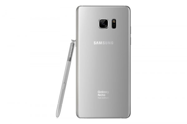 Samsung Galaxy Note Fan Edition Silver Titanium back