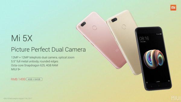 Xiaomi Mi 5X Übersicht und Preis