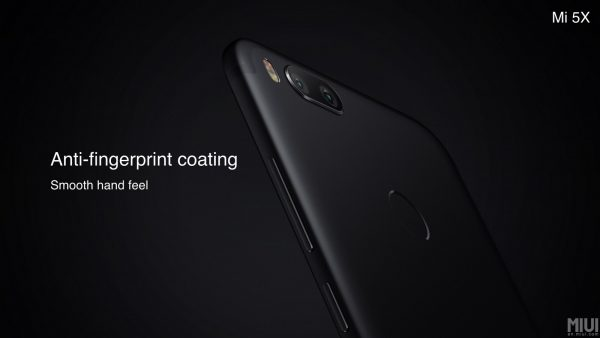 Xiaomi Mi 5X Anti-fingerprint coating
