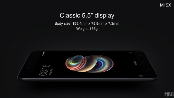 Xiaomi Mi 5X Classic 5.5'' Display