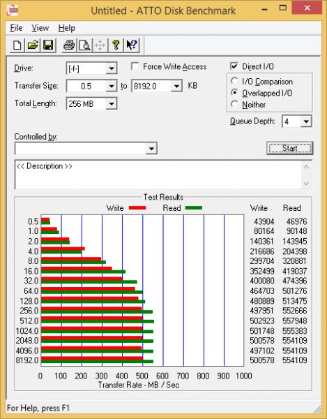 ATTO Plextor M6 PRO 256 GB