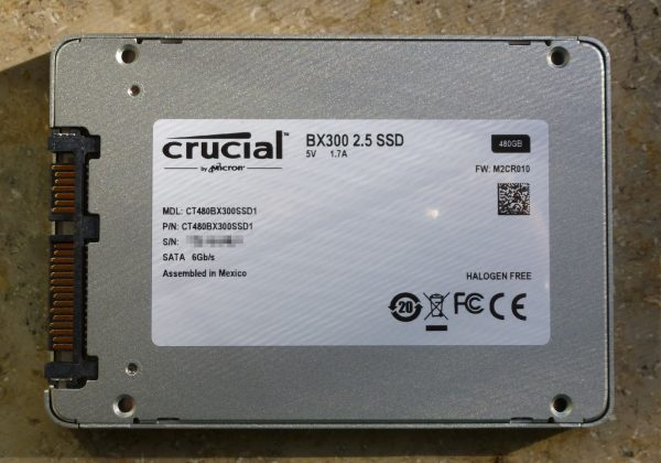 Crucial BX300 Rückseite