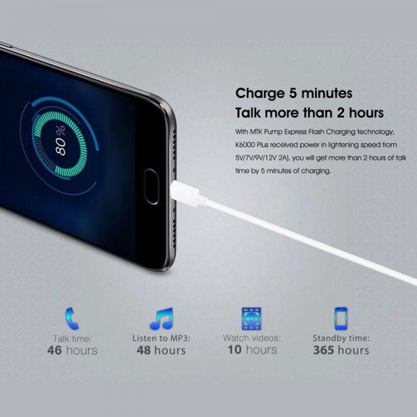 Oukitel K6000 Plus Charging