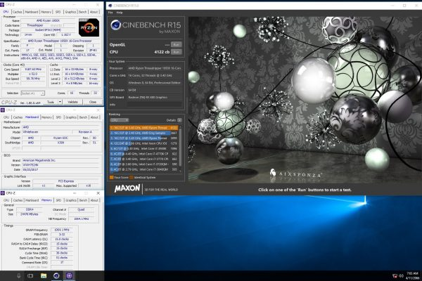 Ryzen Threadripper OC Cinebench