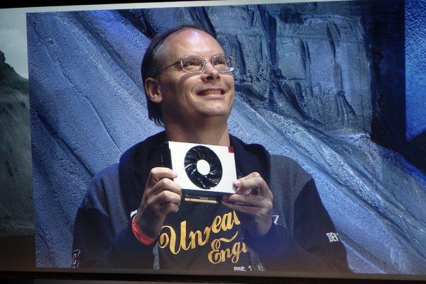Tim Sweeney mit Radeon RX Vega Nano