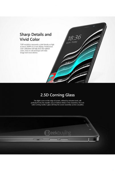 Ulefone Metal Color and Glass