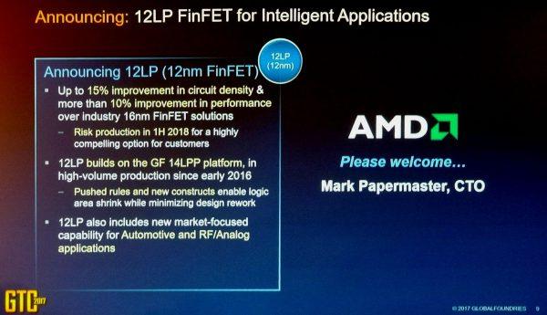 AMD 12LP FinFET Announcement