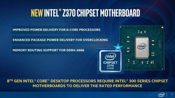 Core 8th Gen Z370 Chipset