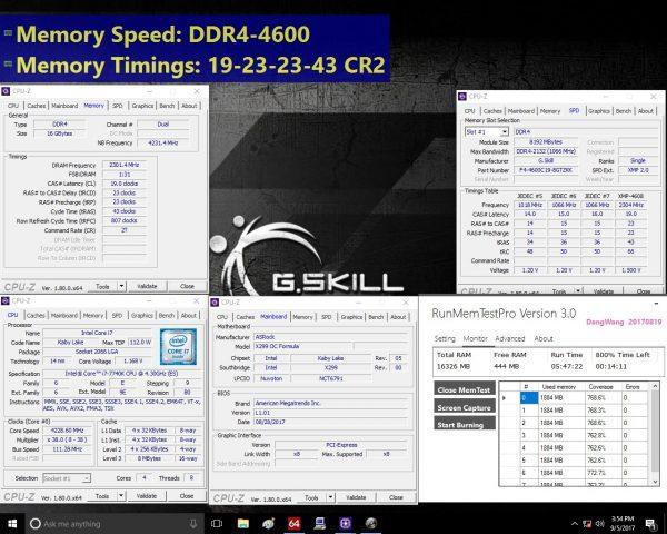 G.SKILL Trident Z DDR4-4600MHz Screenshot