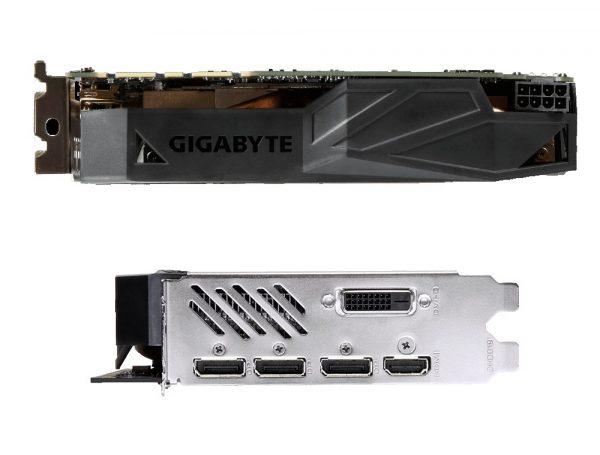 Gigabyte GTX 1080 Mini-ITX Top und Anschlüsse