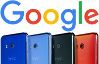 Google Logo und HTC Phones