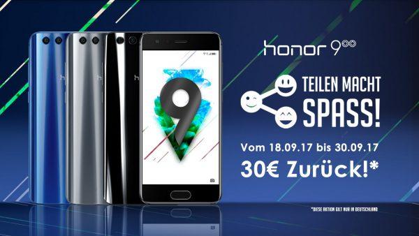 Honor 9 Teilen macht Spaß