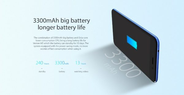 Vernee M5 3300mAh big battery