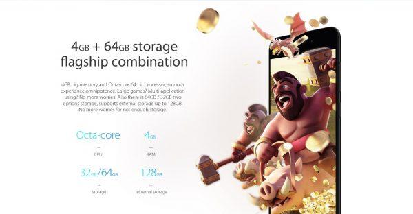 Vernee M5 4GB big RAM
