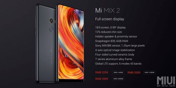 Xiaomi Mi Mix 2 Black Overview