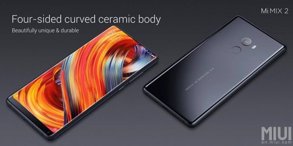 Xiaomi Mi Mix 2 Curved ceramic body