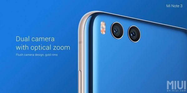 Xiaomi Mi Note 3 Dual camera