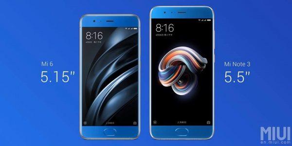 Xiaomi Mi Note 3 Größenvergleich