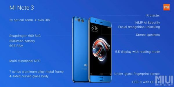 Xiaomi Mi Note 3 Overview