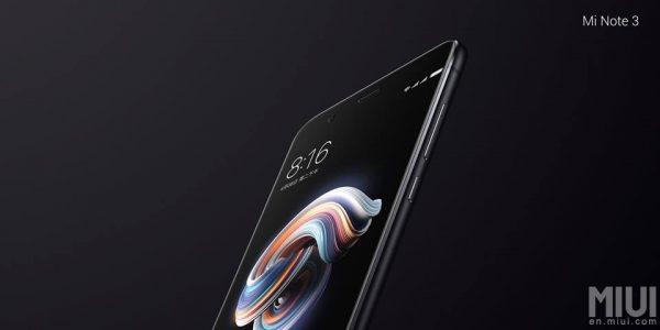 Xiaomi Mi Note 3 Schwarz Seite