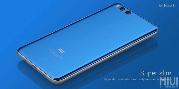 Xiaomi Mi Note 3 Slim