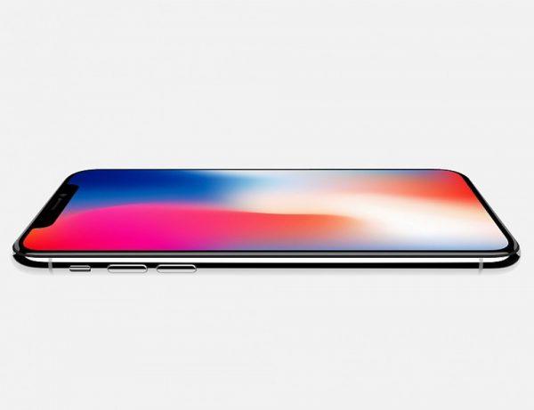 iPhone X flach