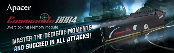 Apacer Commando DDR4 banner