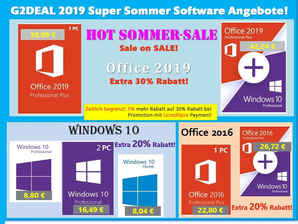 Super Summer Sale with great discounts on Windows 10 at 8 8